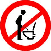 Mietrecht - Männer dürfen im Stehen pinkeln